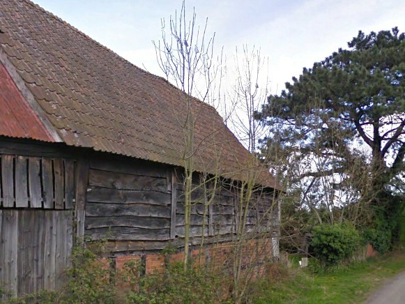 Old barn in Lower Breinton, previous to becoming a contemporary home