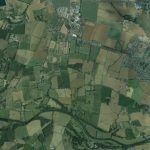 Rural Breinton on the northern bank of the River Wye (as seen on Google Earth)