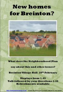 New homes for Breinton? flier