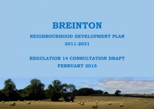 Breinton Neighbourhood Plan Draft Cover