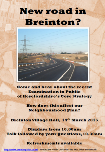 New road in Breinton flier