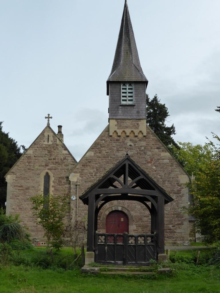 St. Michael's Church, Breinton, showing the west door (N. Geeson)