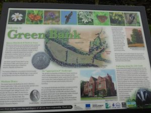 The Interpretation Board at Green Bank, Warham