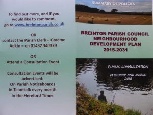 Neighbourhood Plan Consultation leaflet