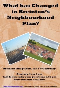 What has changed in Breinton's Neighbourhood Plan?