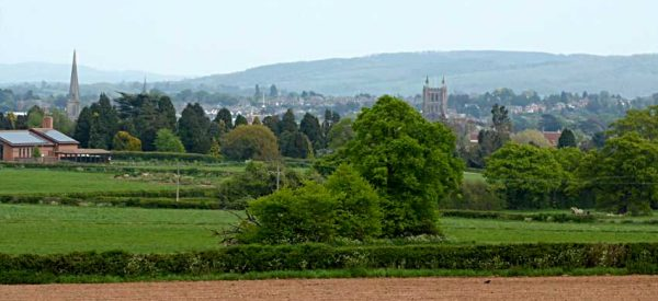 View of Hereford from Breinton